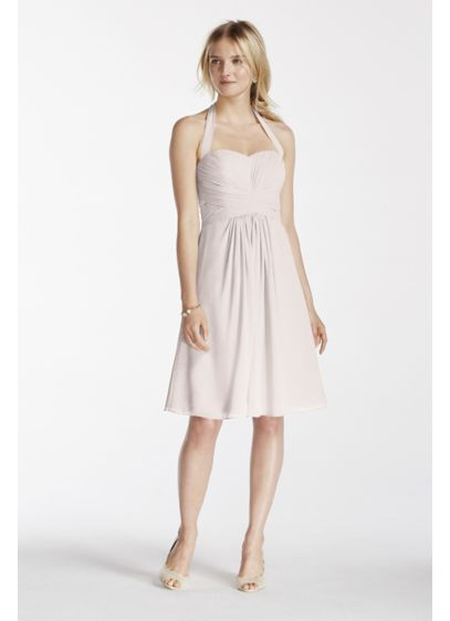 Short David's Bridal Bridesmaid Dress