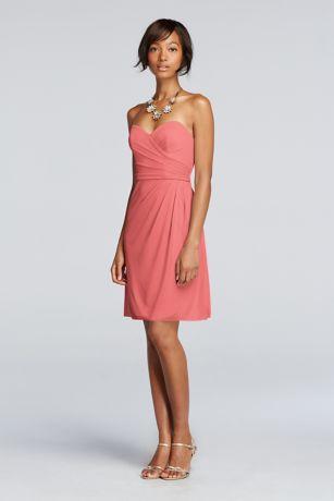 Cheap bridesmaid dresses coral