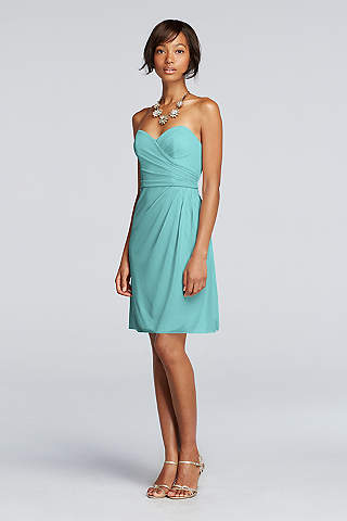 Robe cocktail bustier bleu marine