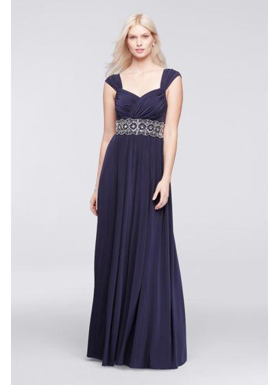 Long A-Line Cap Sleeves Formal Dresses Dress - David's Bridal