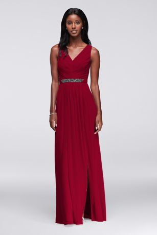 Long Purple Bridesmaid Dresses