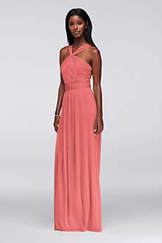 Bridesmaids dresses coral color