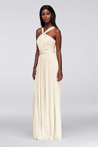 Soft Flowy Long Bridesmaid Dress