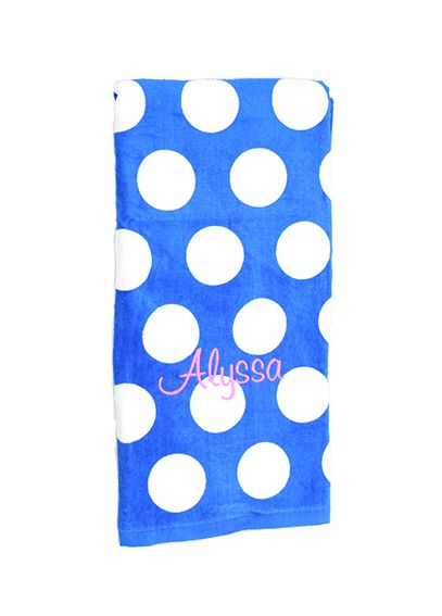 DB Exclusive Personalized Dot Terry Beach Towel W196