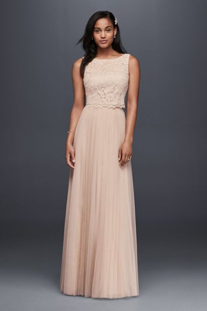 Lace and Mesh Two-Piece Wedding Dress | David's Bridal