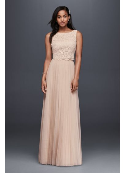 Long Sheath Romantic Wedding Dress - Donna Morgan