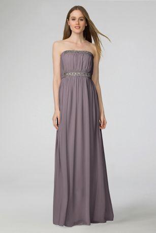 David's Bridal Chiffon Bridesmaid Dress