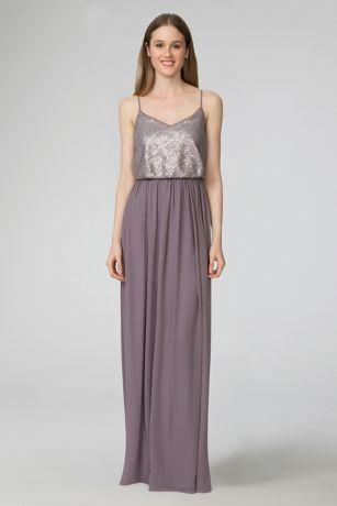 V-Neck a Line Chiffon Bridesmaid Dress