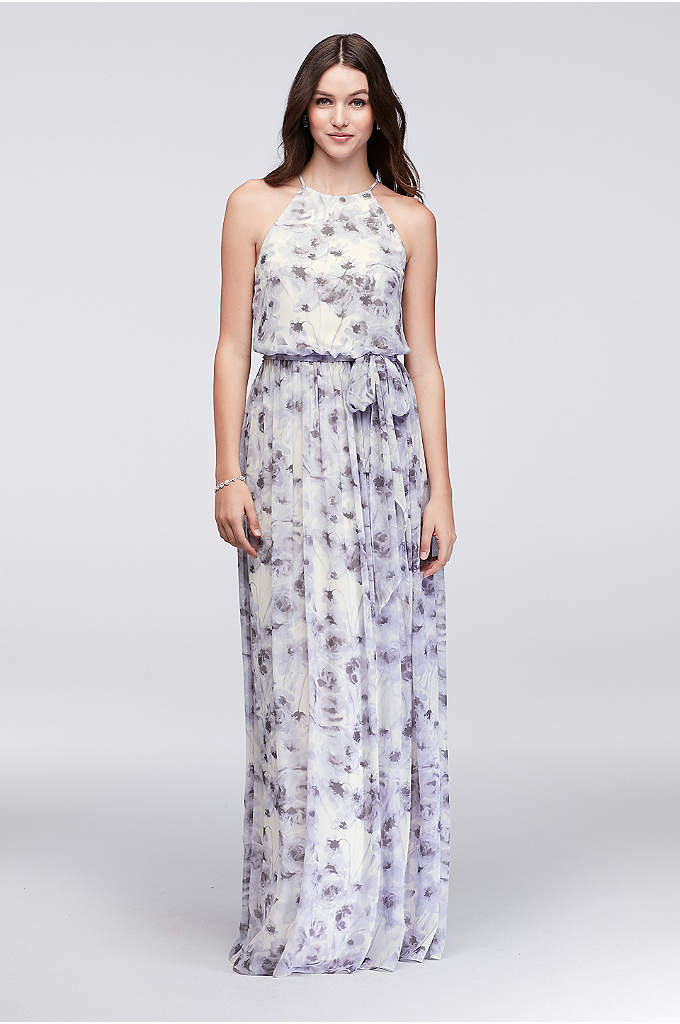 Alana Printed Chiffon Bridesmaid Dress - This floral-printed chiffon bridesmaid dress is beautifully simple.