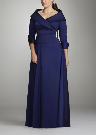 Taffeta Mock Two-Piece with 3/4 Sleeve W257086D