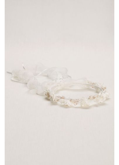Pearl and Floral Flower Girl Wreath - Wedding Accessories