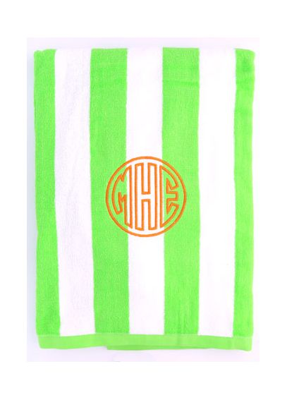 DB Excl Personalized Cabana Stripe Beach Towel W99