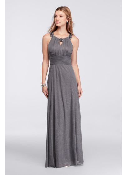 Long A-Line Halter Mother and Special Guest Dress - David's Bridal