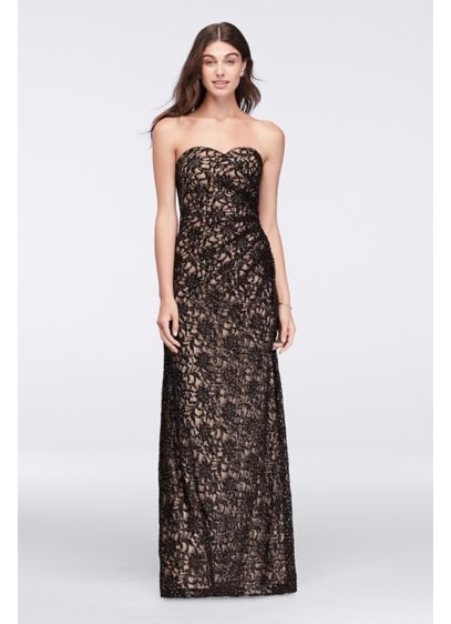 Long A-Line Strapless Military Ball Dress - David's Bridal