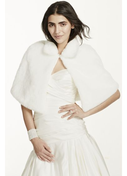 Faux Fur Capelet - Wedding Accessories