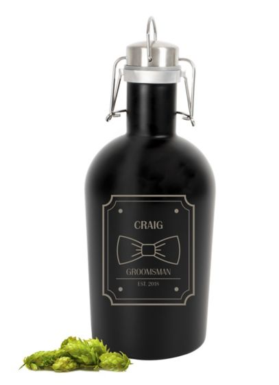 Personalized Stainless Steel Groomsman Growler - Wedding Gifts & Decorations