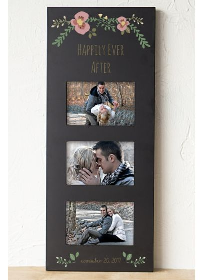 Personalized Floral Wedding Multi Photo Frame - Wedding Gifts & Decorations