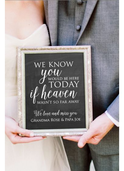 Personalized Wedding Memorial Sign - Wedding Gifts & Decorations