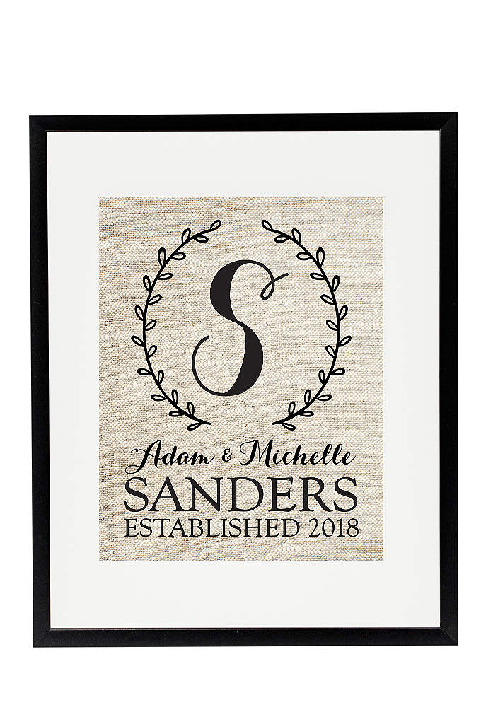 Personalized Monogram Wedding Wreath Sign - Mark the start of your family's beginning with