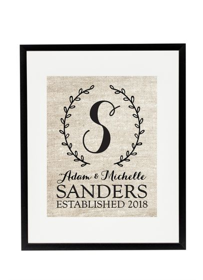 Personalized Monogram Wedding Wreath Sign - Wedding Gifts & Decorations
