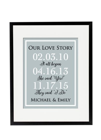 Personalized Our Love Story Special Dates Sign - Wedding Gifts & Decorations
