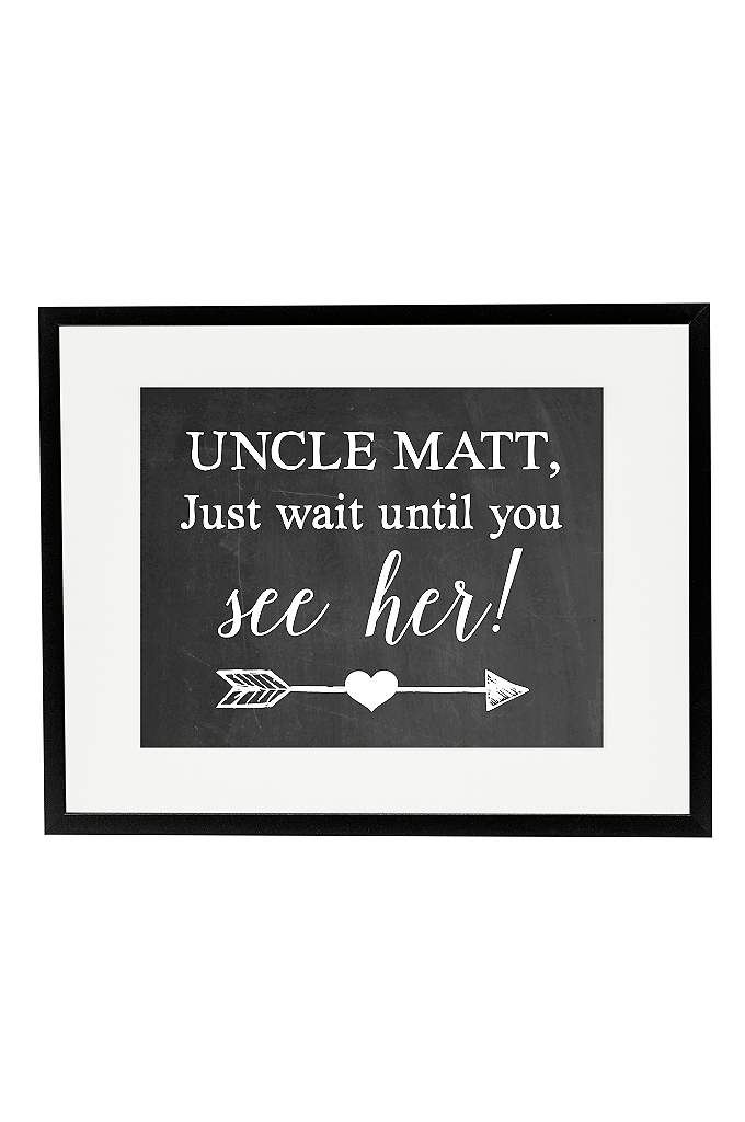 Personalized Just Wait Until You See Her Sign - Ask your flower girl or ring bearer to