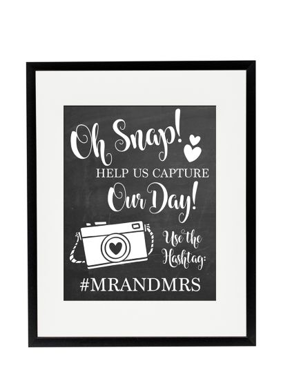 Personalized Oh Snap Wedding Hashtag Sign - Wedding Gifts & Decorations