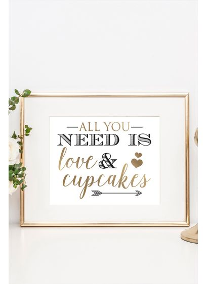 Love and Cupcakes Wedding Dessert Table Sign - Wedding Gifts & Decorations