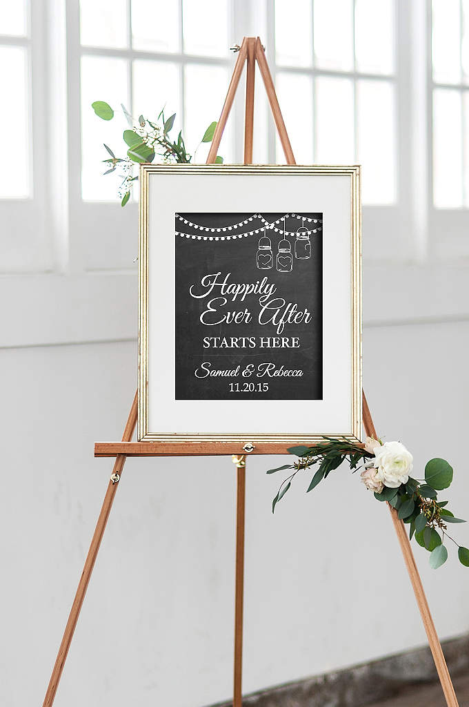 Personalized Happily Ever After Wedding Sign - Let guests know they're in the right place