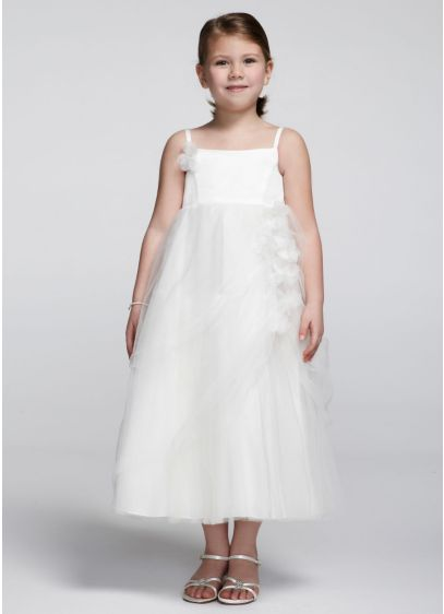 Short Ballgown Spaghetti Strap Communion Dress - David's Bridal