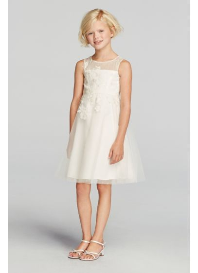 Short Ballgown Tank Communion Dress -