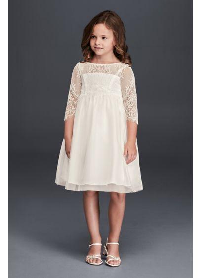 Short A-Line Long Sleeves Communion Dress -