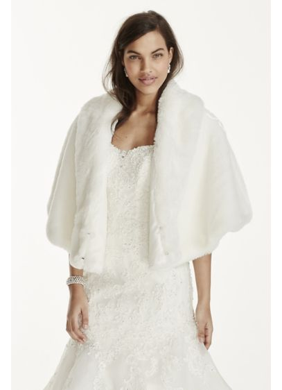 Long Fur Cape - Wedding Accessories