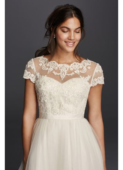 Open Back Lace Applique Topper - Wedding Accessories