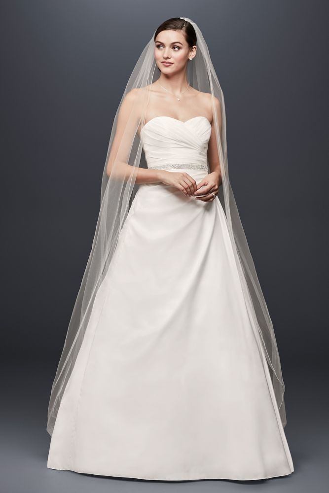 Taffeta a line wedding dress with sweetheart neck style wg3243 for Need to sell my wedding dress