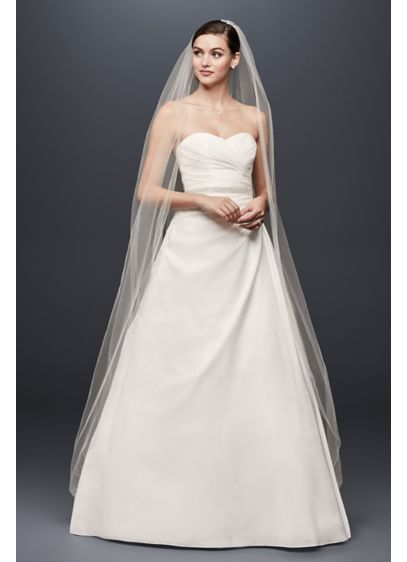 Taffeta a line wedding dress with sweetheart neck davids for How to start a wedding dress shop