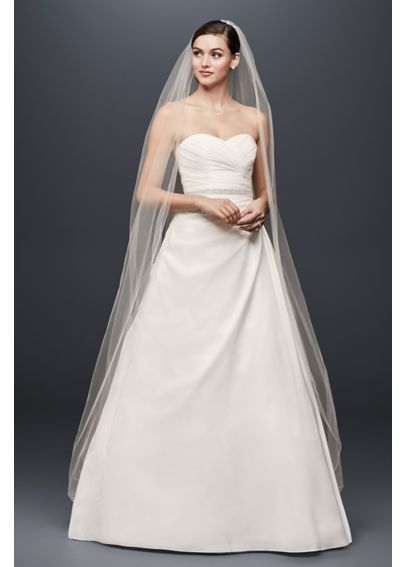 Taffeta A Line Gown with Sweetheart Neckline WG3243