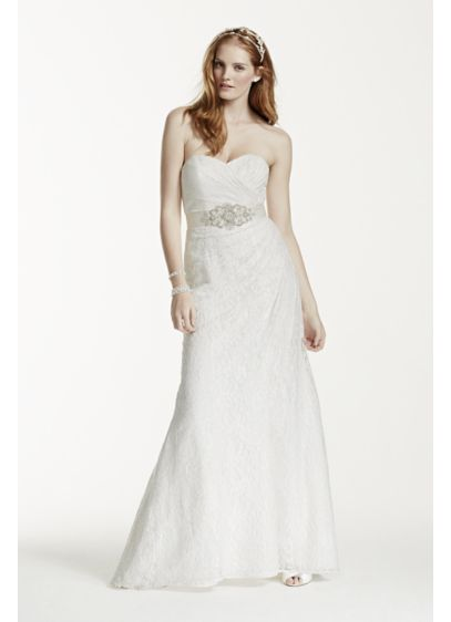 Wedding Dresses Lace Strapless : Sweetheart strapless lace wedding dress david s bridal
