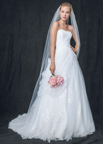 Ordinaire Long Ballgown Formal Wedding Dress   Davidu0027s Bridal Collection