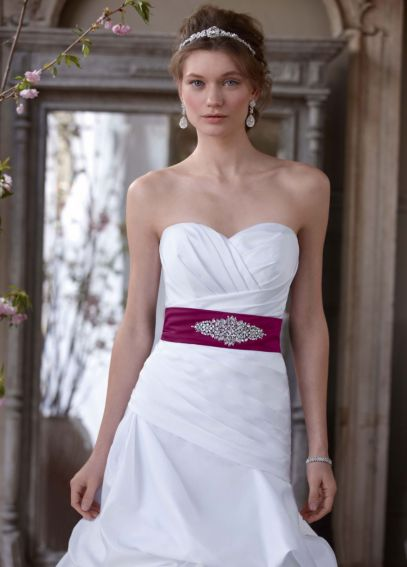 Dropped Waist Strapless Sweetheart Wedding Dress  WG3444