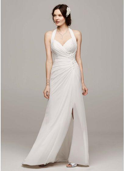 Long Sheath Halter Dress - David's Bridal Collection
