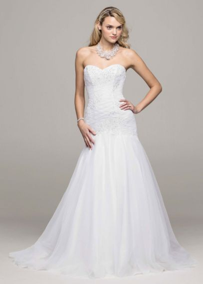 Sweetheart Trumpet Beaded Applique Wedding Dress | David's Bridal