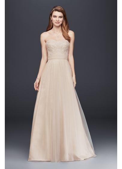 Long A-Line Romantic Wedding Dress - David's Bridal Collection