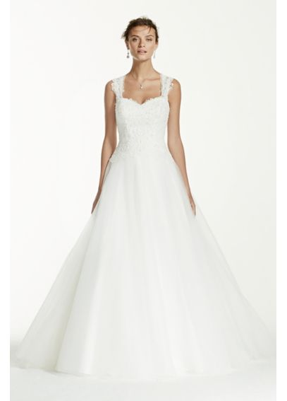 Tulle wedding dress with illusion back detail davids bridal for How to start a wedding dress shop