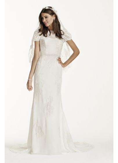 Long Sheath Country Wedding Dress - Galina