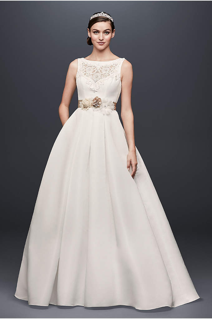 Open Back Wedding Dress with Beading and Pockets - Unique from the rest, this faille gown is