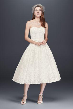 Elegant Short A Line Country Wedding Dress   Davidu0027s Bridal Collection