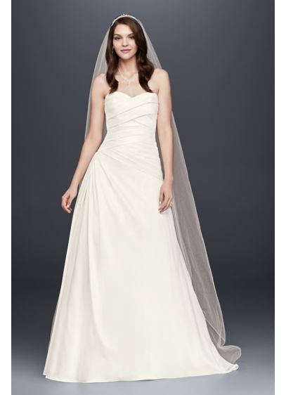 Shop discount wedding dresses wedding dress sale davids bridal strapless a line drop waist wedding dress junglespirit