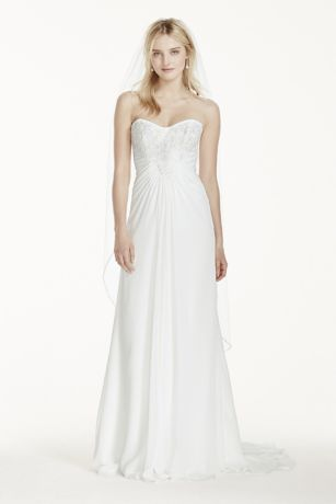 Long Sheath Beach Wedding Dress   Davidu0027s Bridal Collection