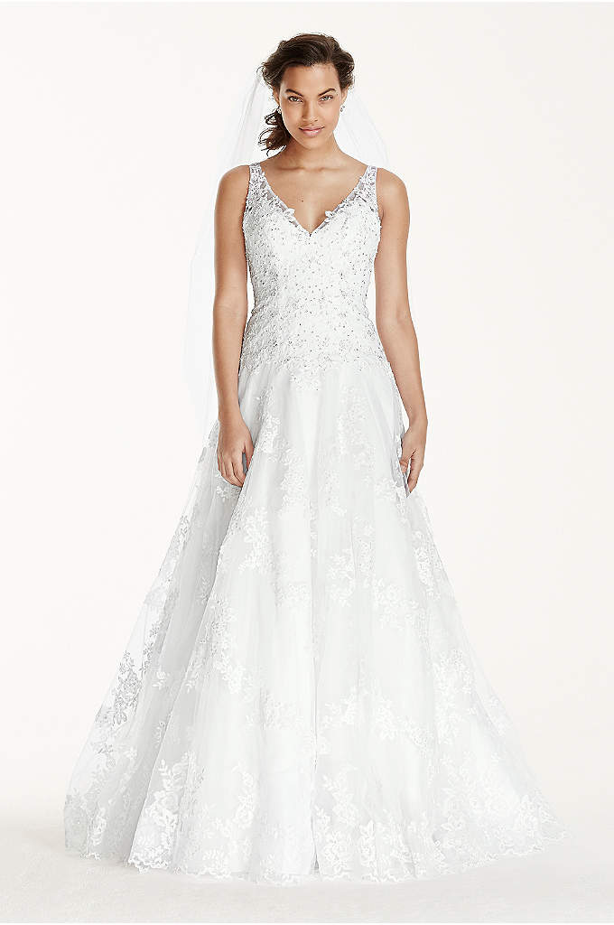 Jewel Tank Tulle Wedding Dress with Lace Applique - What's in a number? For this beautiful limited-edition